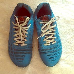 Reebok CrossFit shoes size 8.5 US women's blue